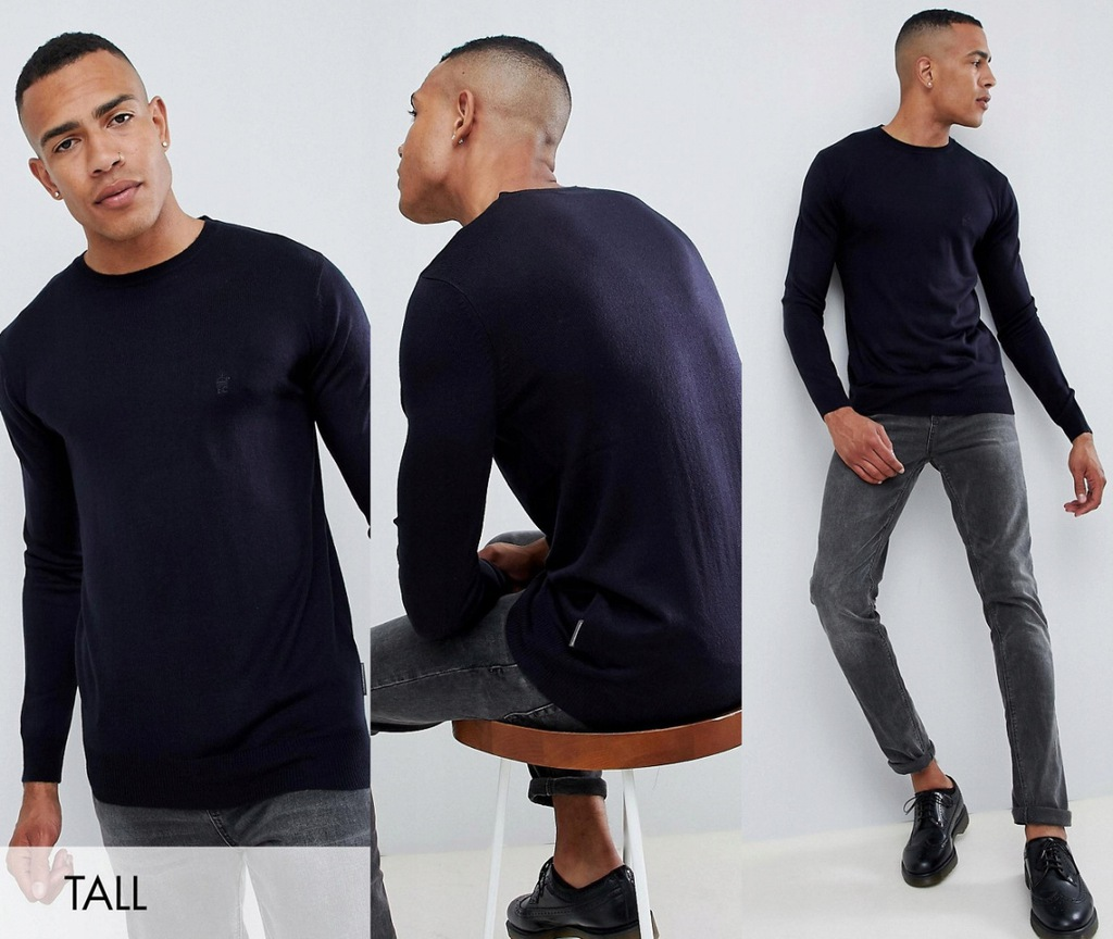 AE-5-12-22 FRENCH CONNECTION TALL SWETER ROZM L