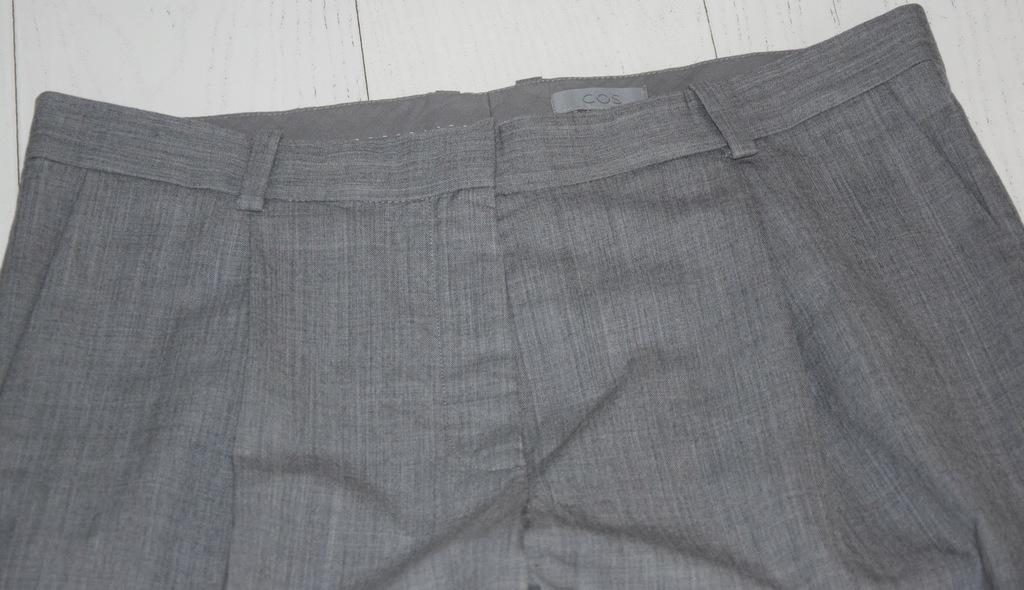 cos szare spodnie cienka wełna chinos r.44/XXL