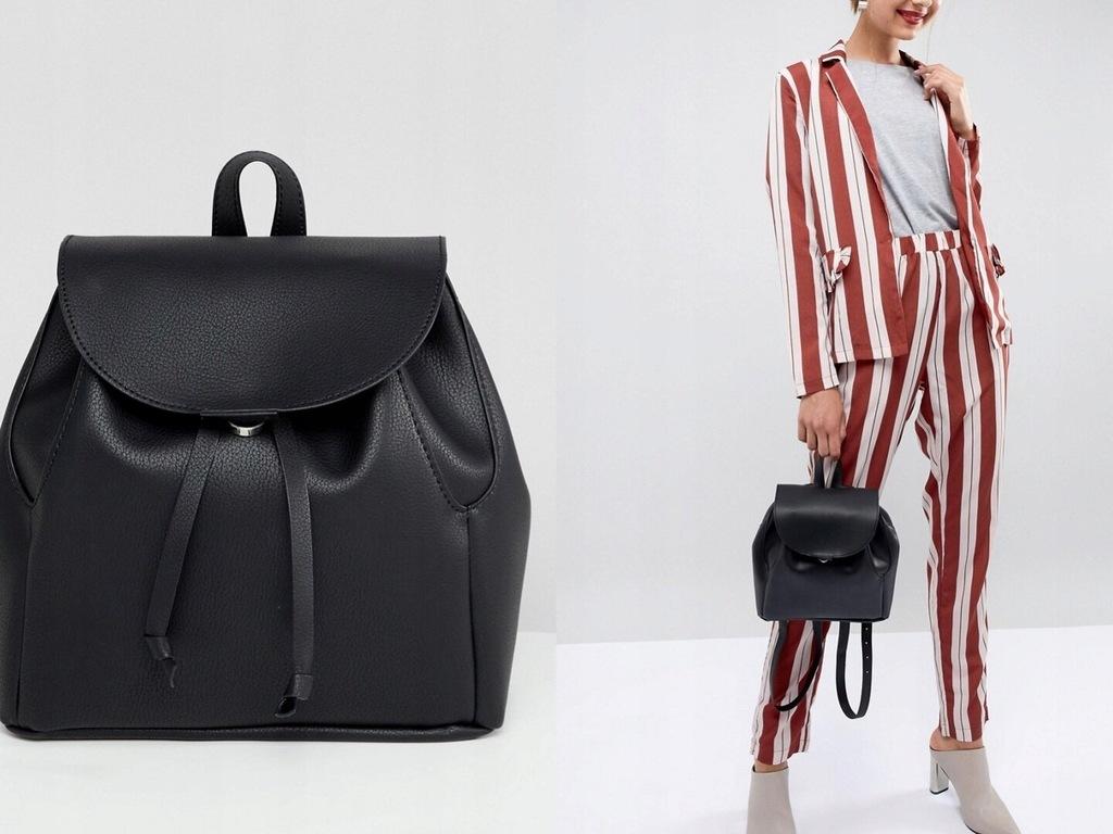 DESIGN klasyczny czarny plecak damski