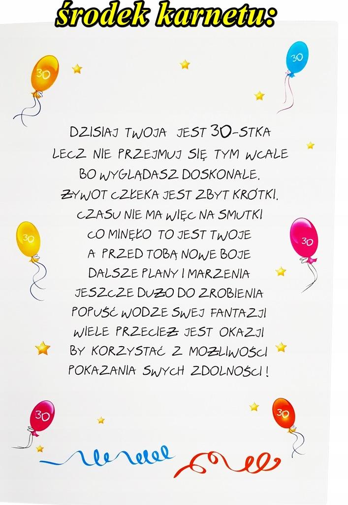 Duża Kartka życzenia Na 30 Urodziny Dla Faceta