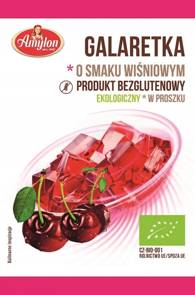 AMYLON Galaretka o smaku wiśniowym bezglutenowa BI
