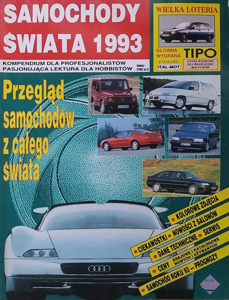 Samochody świata 1993 Katalog