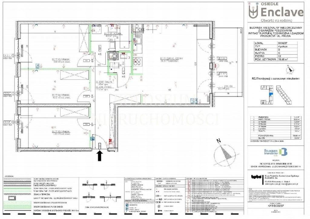 Mieszkanie Pruszków, pruszkowski, 78,00 m²