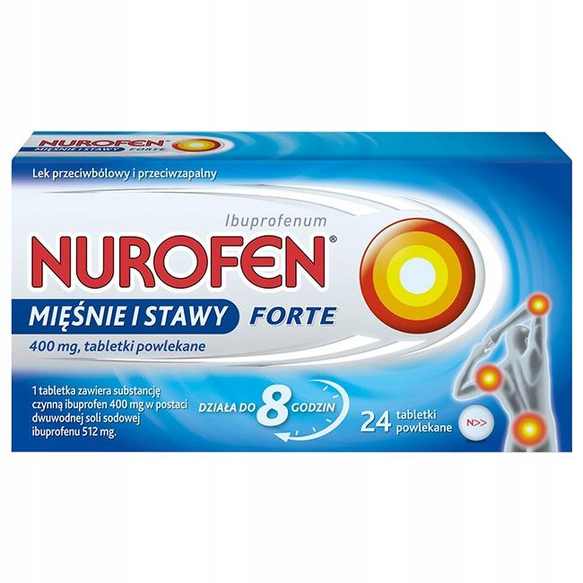 Nurofen Mięśnie i Stawy Forte 400mg na ból 24x