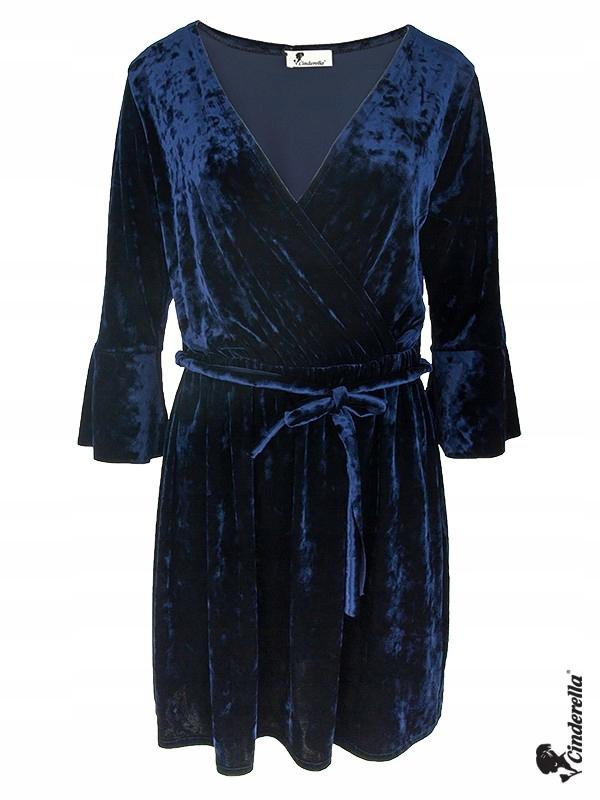 Sukienka elegancka Cinderella Oversize Granat