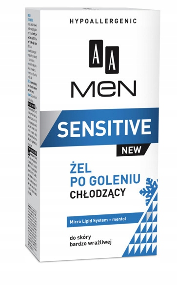 AA MEN Sensitive Żel po goleniu chłodzący 100 ml