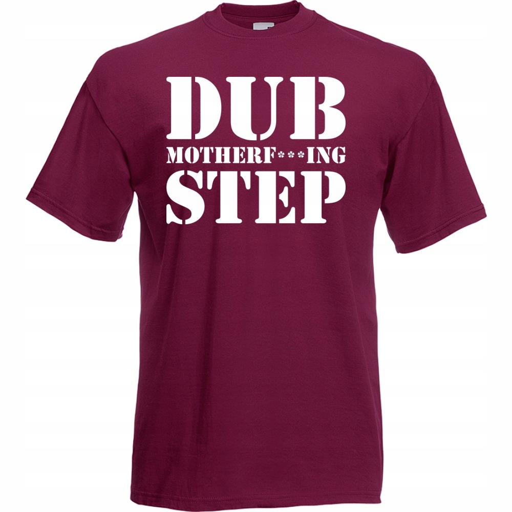Koszulka z nadrukiem dubstep dub XL burgund