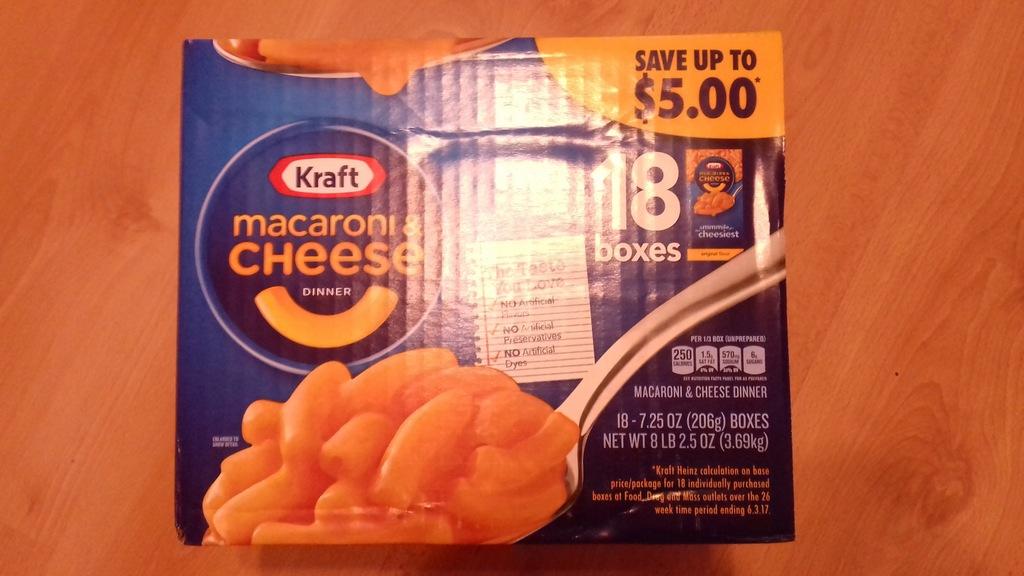 Macaroni & Cheese Kraft - makaron z serem z US