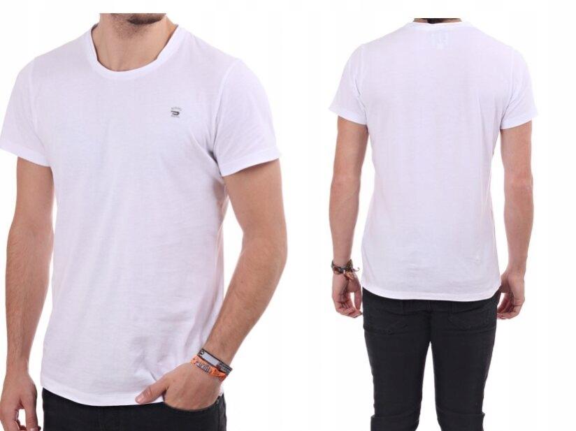DIESEL biały klasyczny gładki t-shirt M