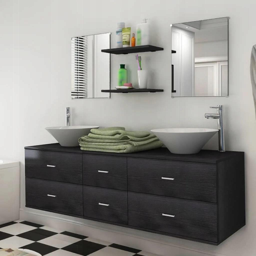 vidaXL 9-częściowy zestaw mebli łazienkowych ze