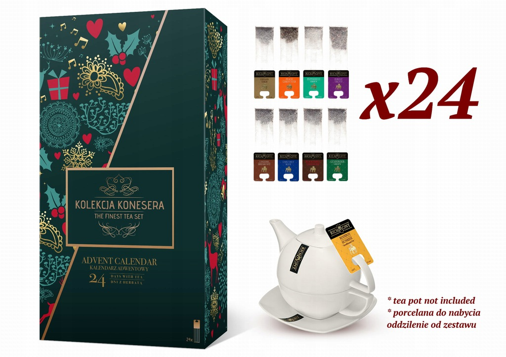 Kalendarz Adwentowy 2019 Z Herbatami Nie Kosmetyki 8595851090 Oficjalne Archiwum Allegro