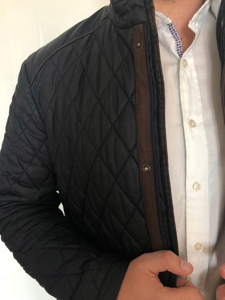 elegancka kurtka pikowana męska