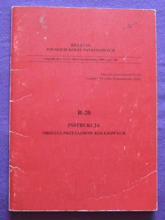R - 20 Instrukcja Obsługi przejazdów kolejowych