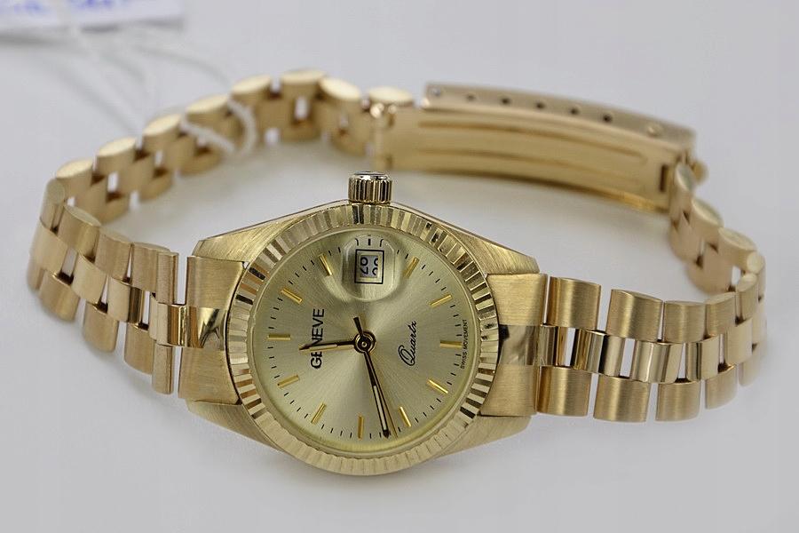 Złoty damski zegarek 14k NOWY 34,6g PRZEŚLICZNY!!!