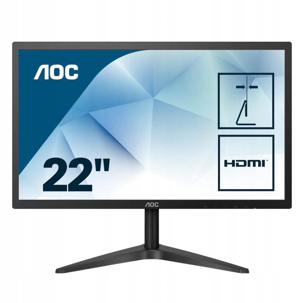 "Monitor AOC 22B1H (21,5""; TN, WLED; FullHD 19"