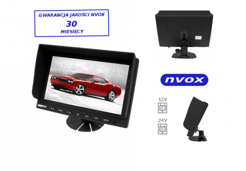 Monitor samochodowy lub wolnostojący LCD 9cali