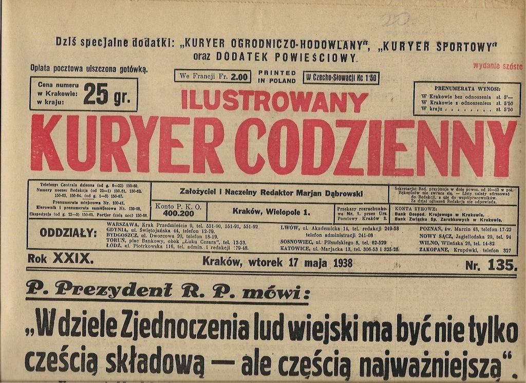 IKC 1938 135 ZAWADY Lotnictwo Legionowo Lublin