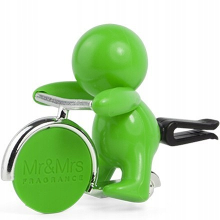 Mr&Mrs GINO Scent for Car, Green, with magneti