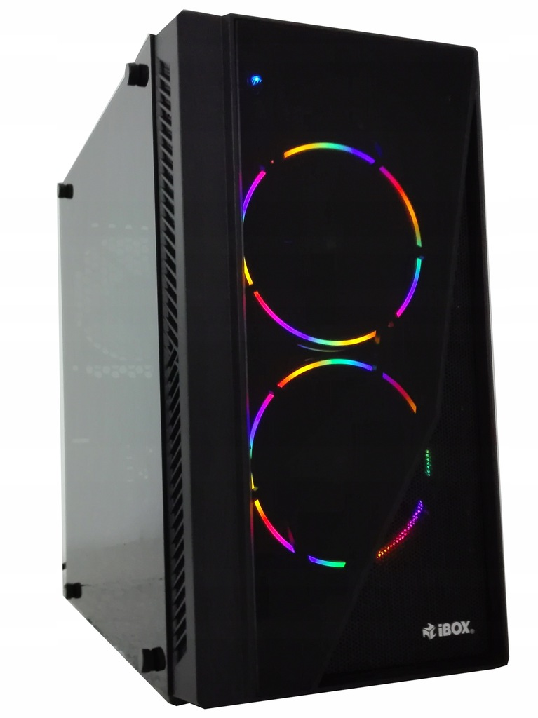 Komputer do gier RYZEN GTX 1050 Ti 8GB SSD W10 LED