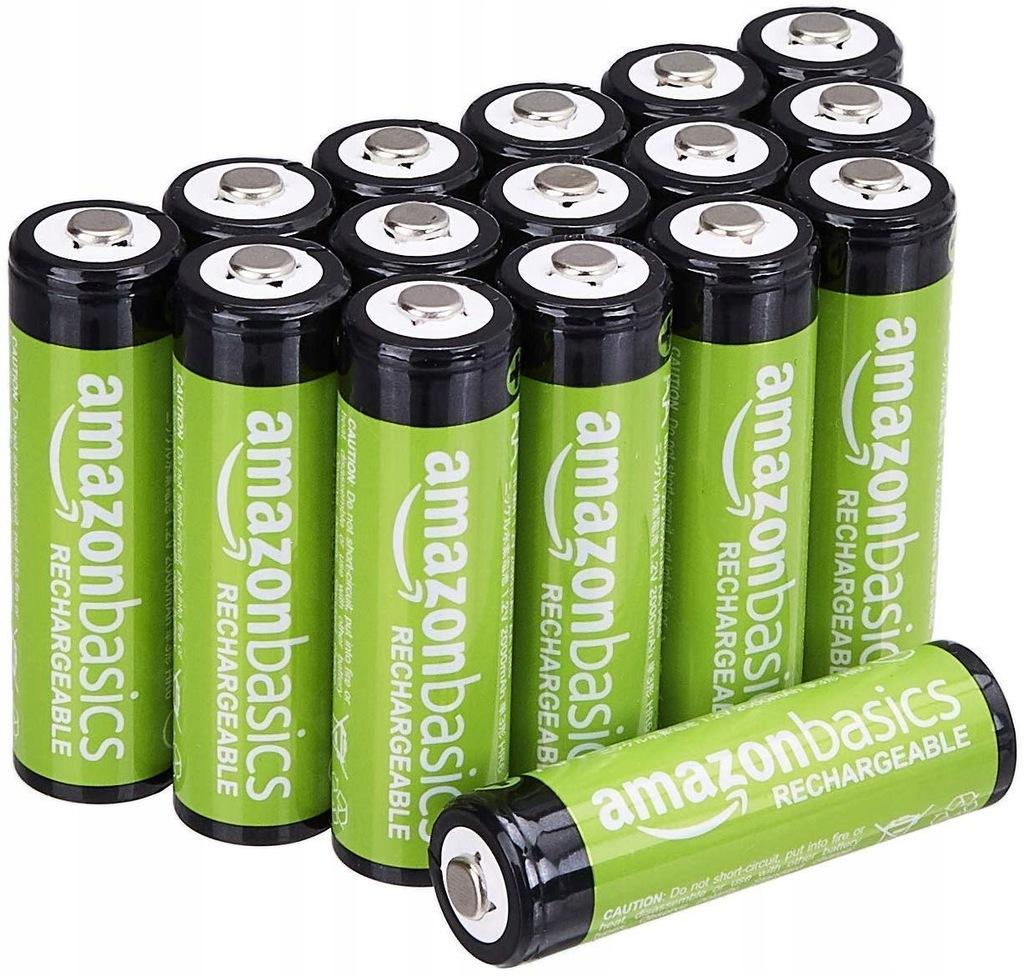 Akumulatory baterie AmazonBasics AA 16 szt