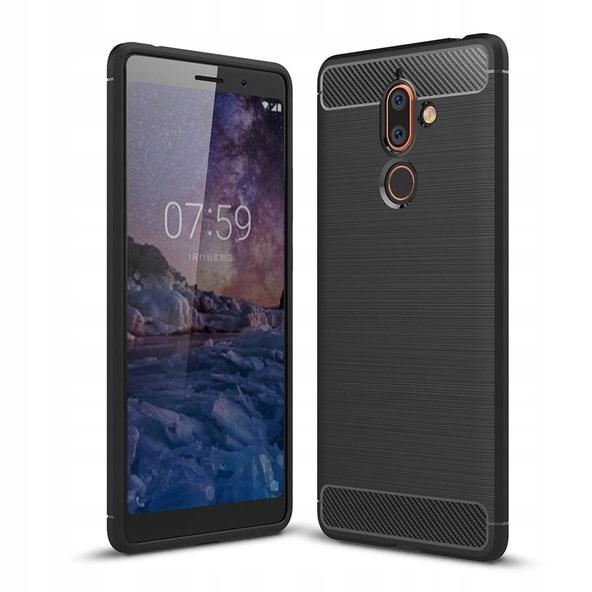 Carbon Case STYLOWE ETUI DO Nokia 7 Plus Czarny