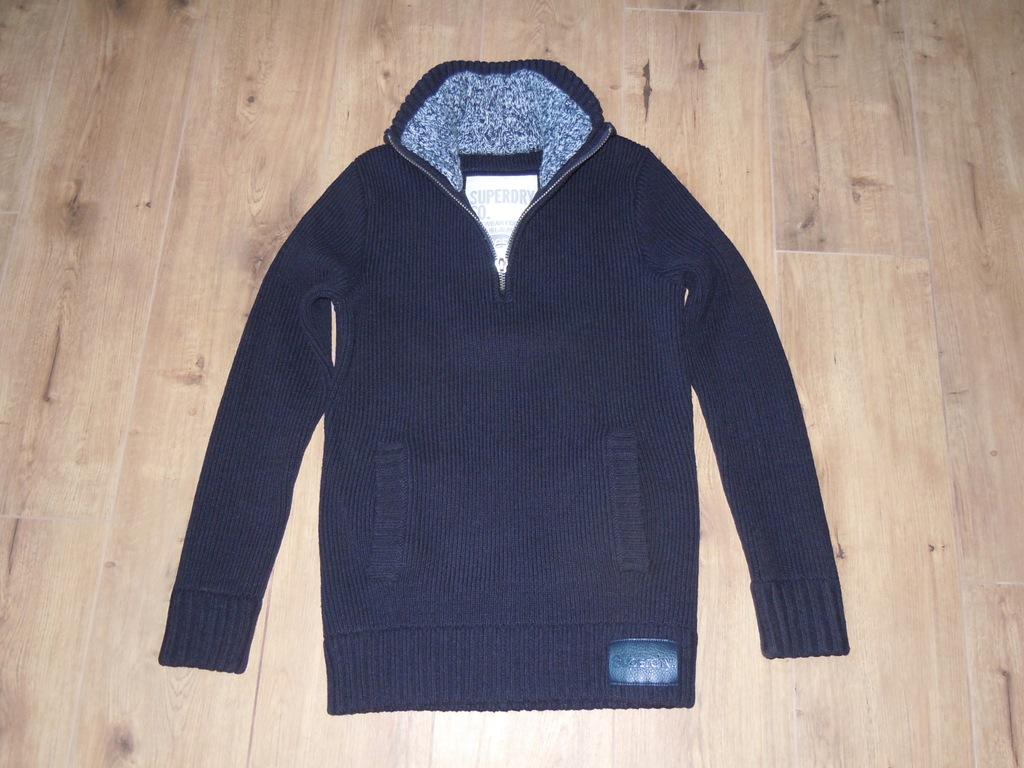 SUPERDRY świetny gruby sweter r .L BDB ciepły