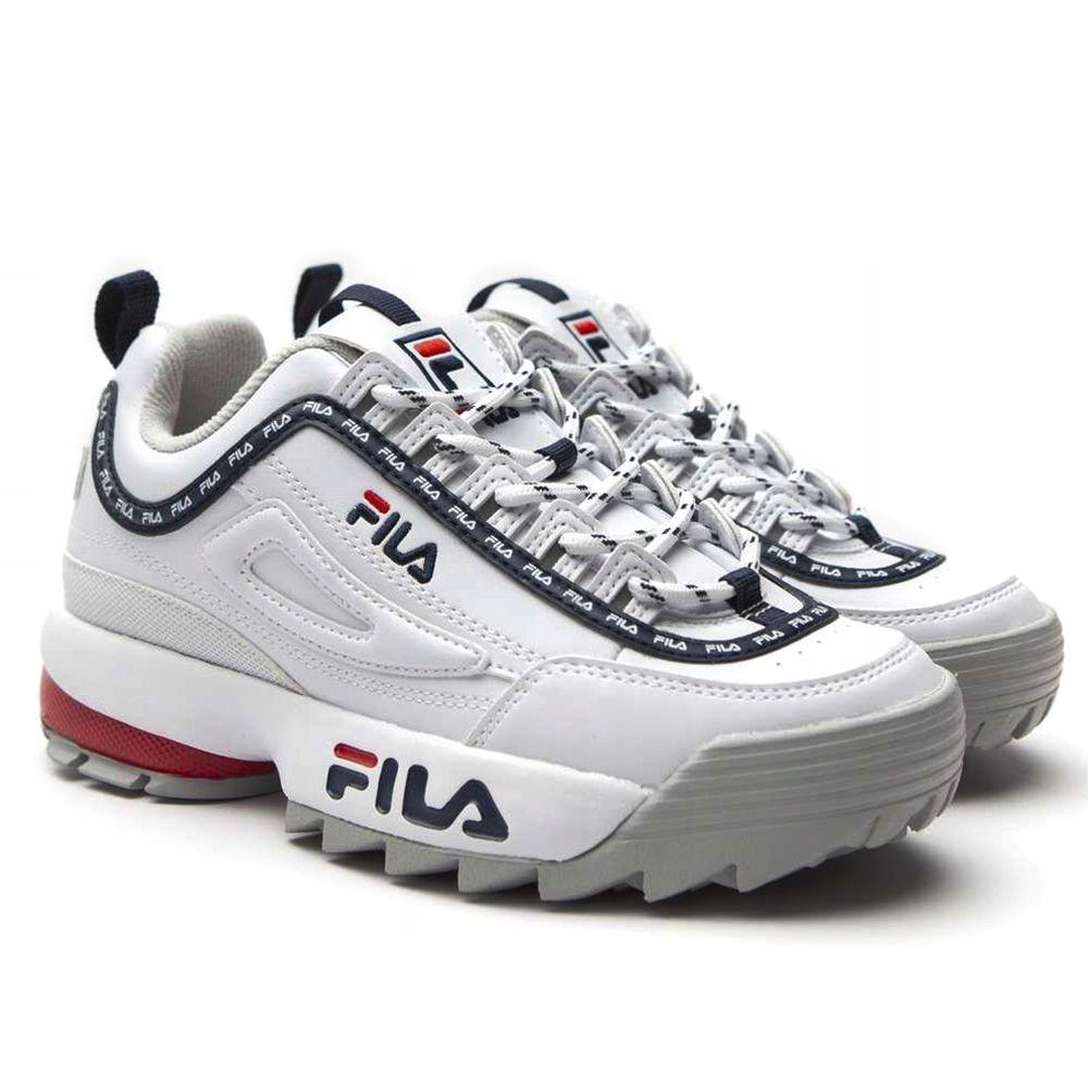 Archiwalne: Białe sportowe buty fila disruptor 38 stylowe