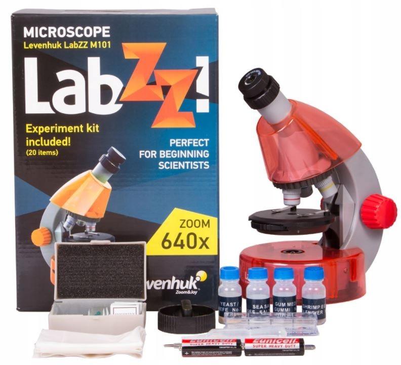 LEVENHUK Mikroskop pomarańczowy LabZZ M101