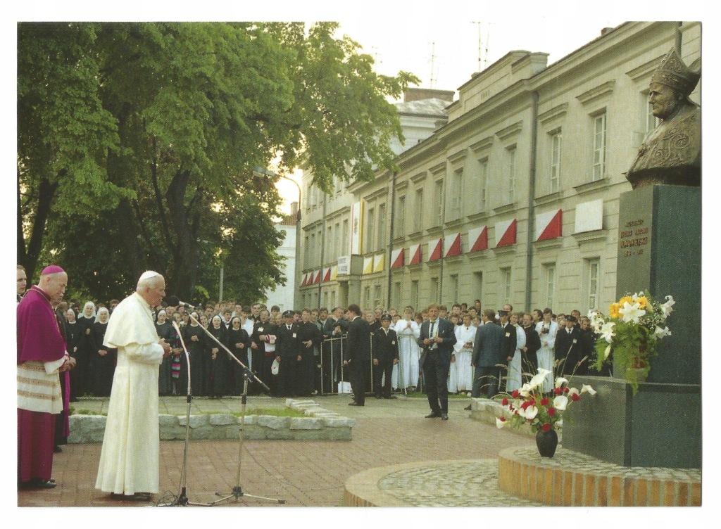 Płock. Wizyta Jana Pawła II 1991r Seminarium Duch.