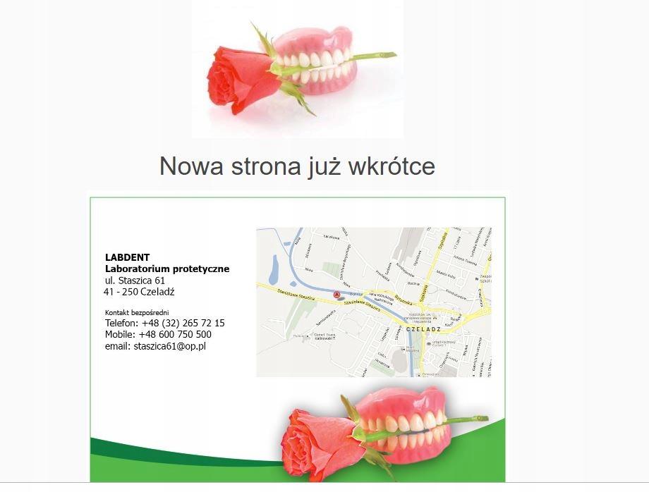 laboratoriumPROTETYCZNE.pl domena www biznes firma