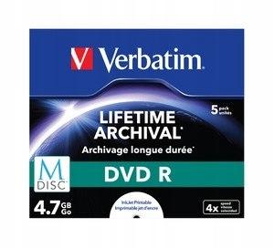 M-DISC DVD R 4x 4.7GB 5P JC Printable 43821