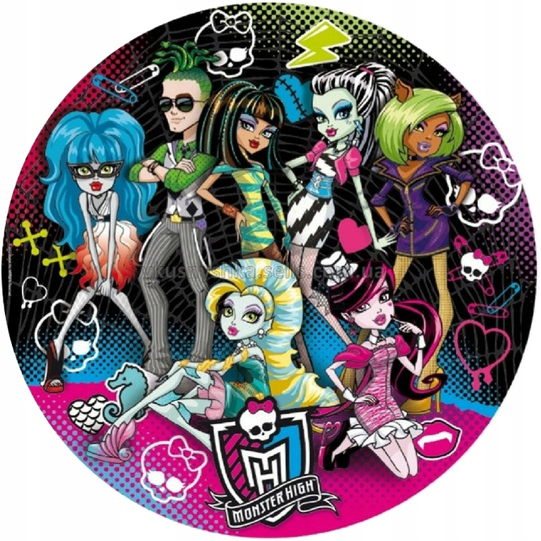 Monster High Oplatki Oplatek Na Tort Gratis 7527122077 Oficjalne Archiwum Allegro