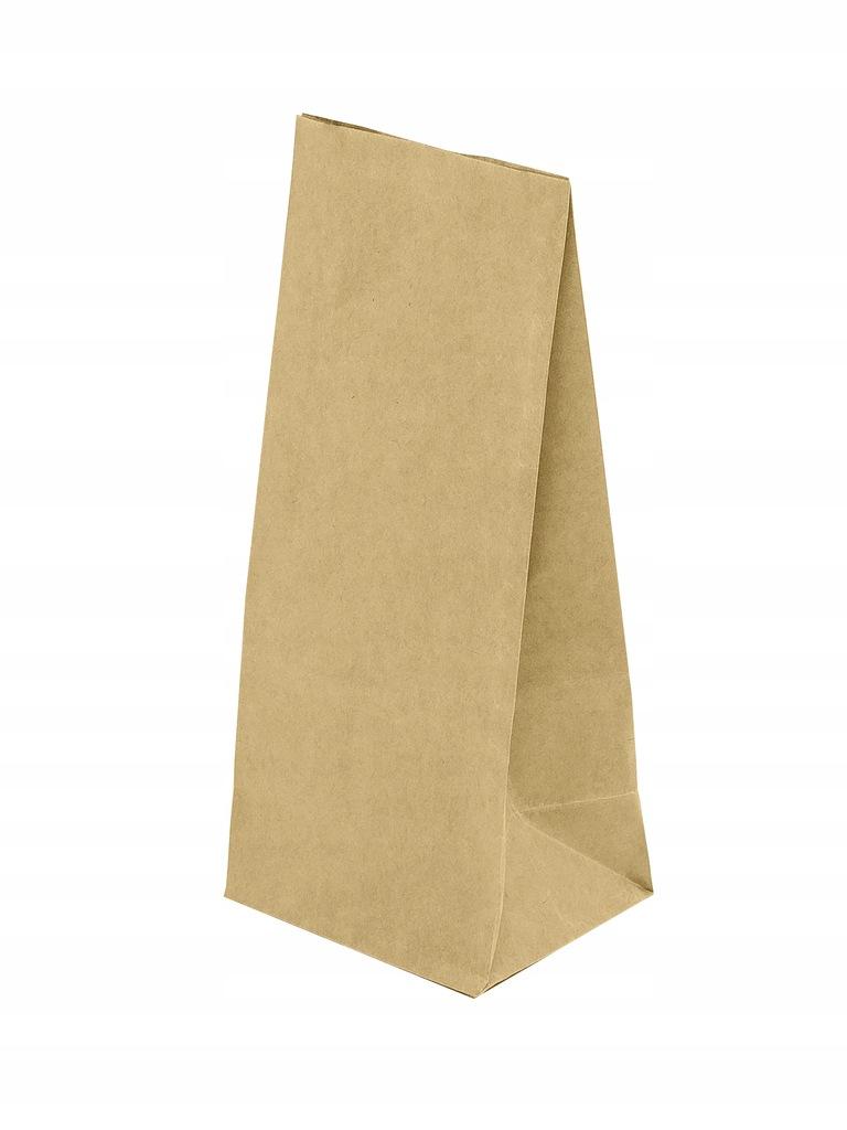 Torby torebki brązowe 8x6,5x19 klockowe Worki