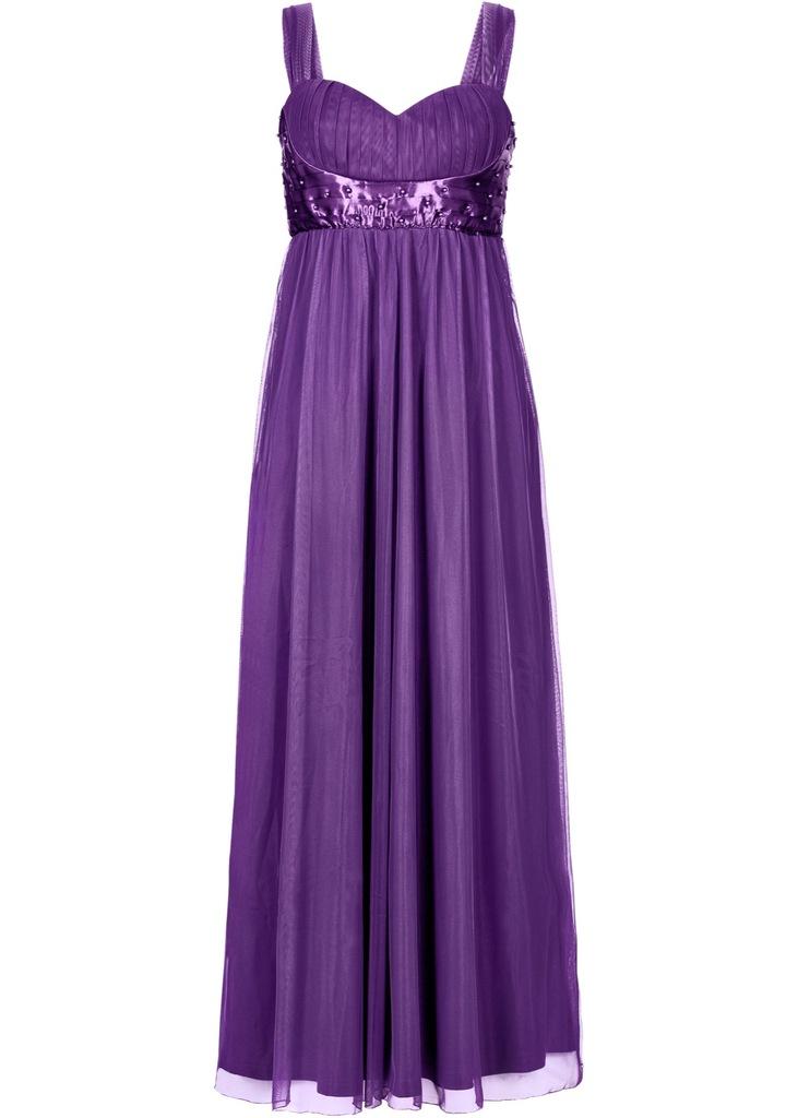 ZH72 BPC Długa sukienka z perełkami BAL r.40