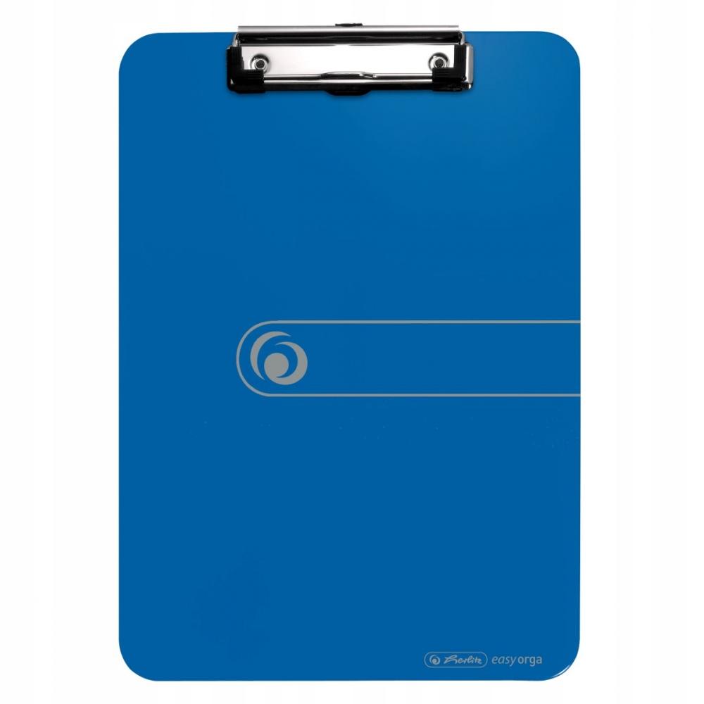 Herlitz deska z zaciskiem A4 niebieska clipboard