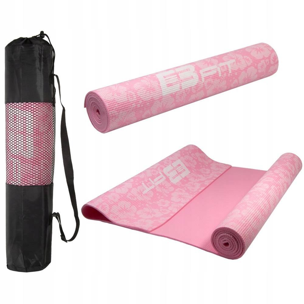 Mata do jogi antypośl. 173x61x5mm róż z torbą