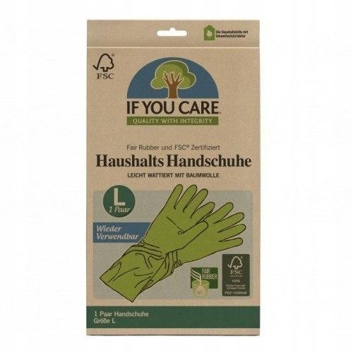 IF YOU CARE Rękawiczki Lateksowe BIODEGRODAWALNE L