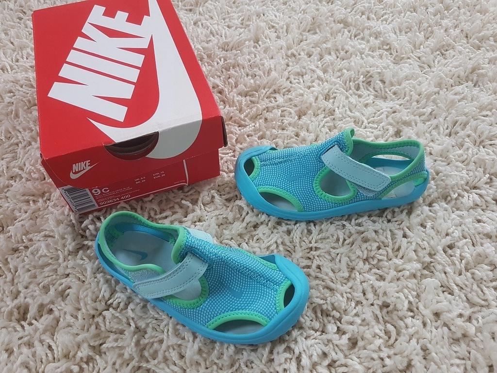 Sandały Nike Sunray Niebieskie 26 15,5 cm Jak Nowe