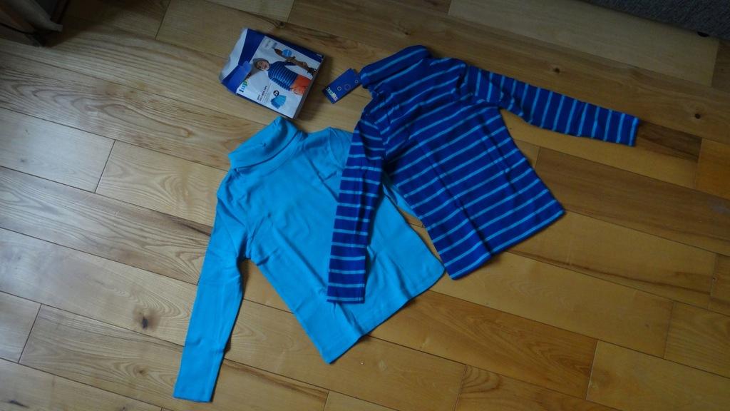 Bluzki golfy NOWE 2 szt Lupilu 110/116