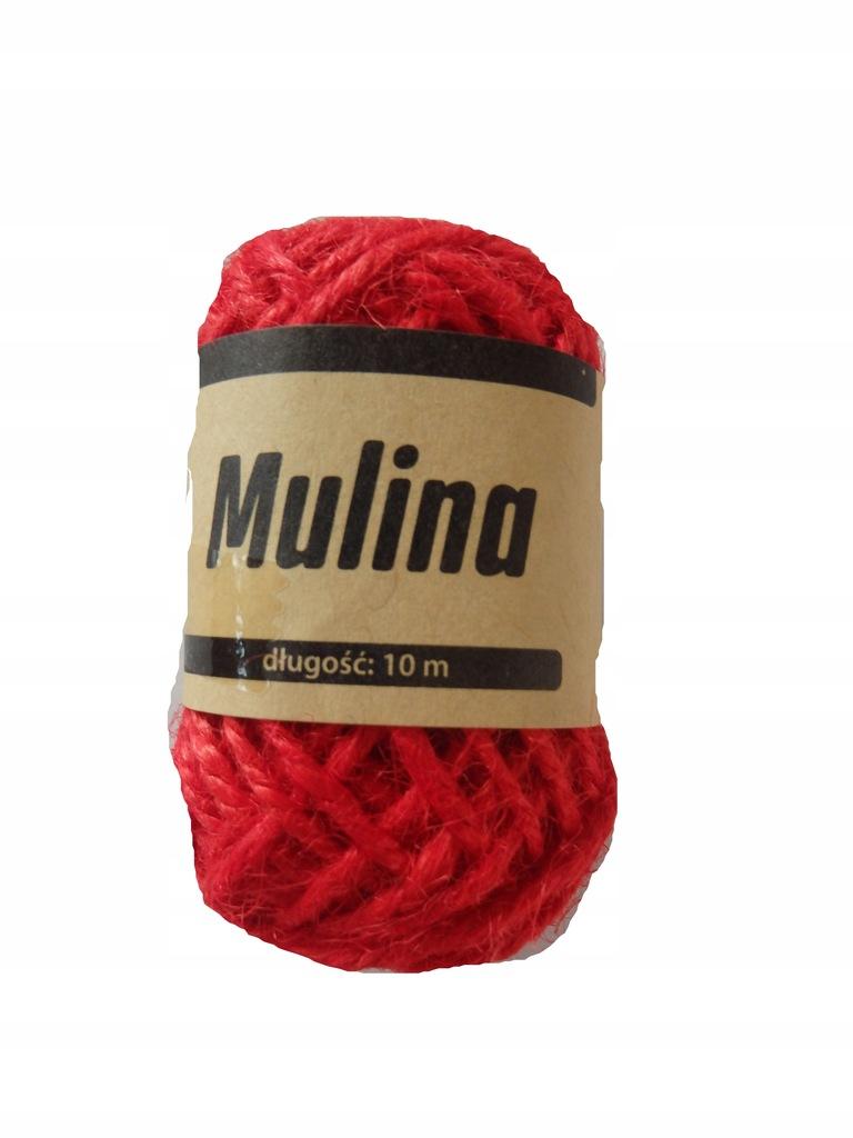 Mulina długość 10m kolor czerwony