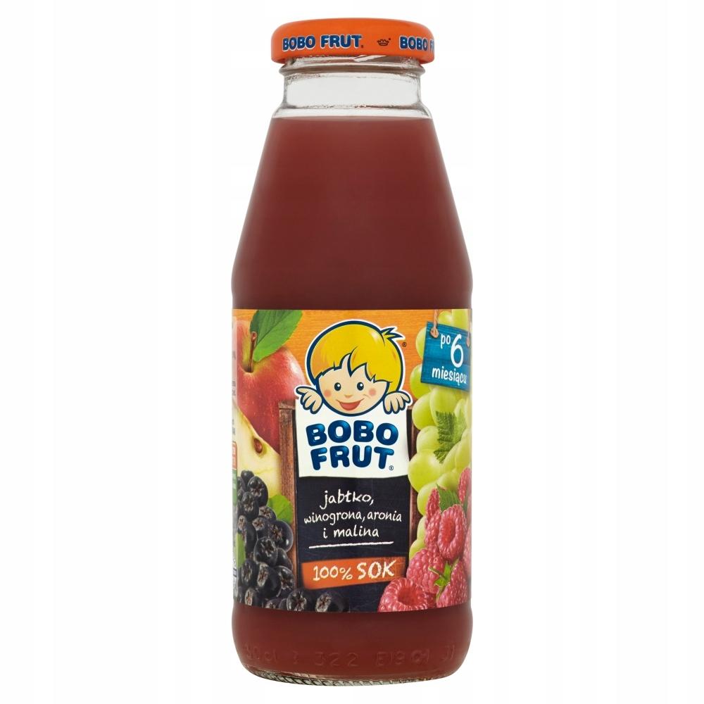 BOBO FRUT sok jabłko winogrona aronia malina 300ml