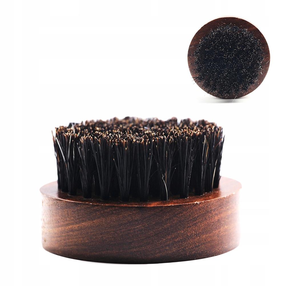 Okrągła drewniana rączka szczotka do brody Przenoś