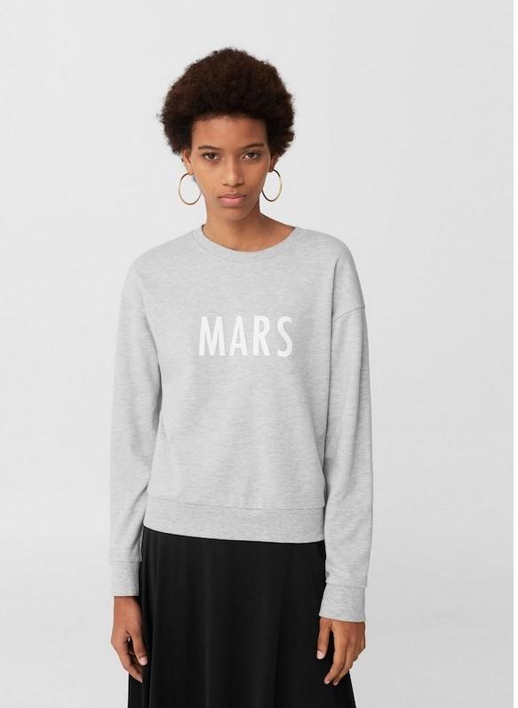 bluza MANGO Mars j nowa szara melanż S