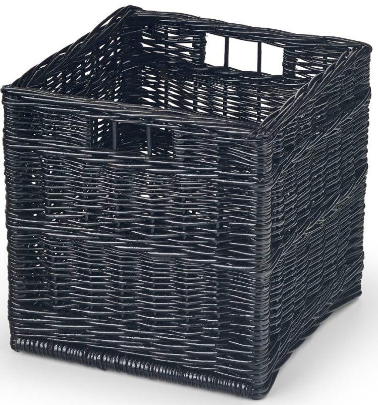 Koszyk wiklinowy czarny szafka WOODY 31x31x31 dom