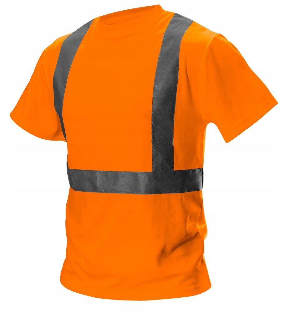 T-shirt ostrzegawczy, pomarańczowy, rozmiar XXL