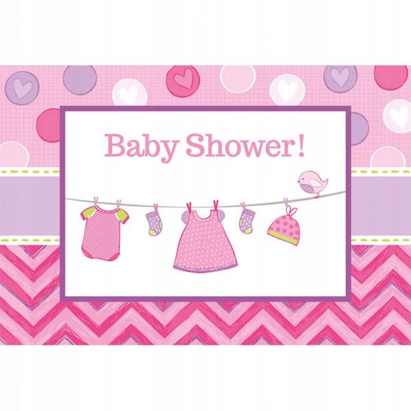 Zaproszenia na Baby Shower Girl Przyjęcie 8 szt.