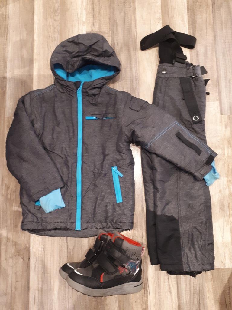 Kurtka Spodnie 116 Buty zimowe 31 Zestaw