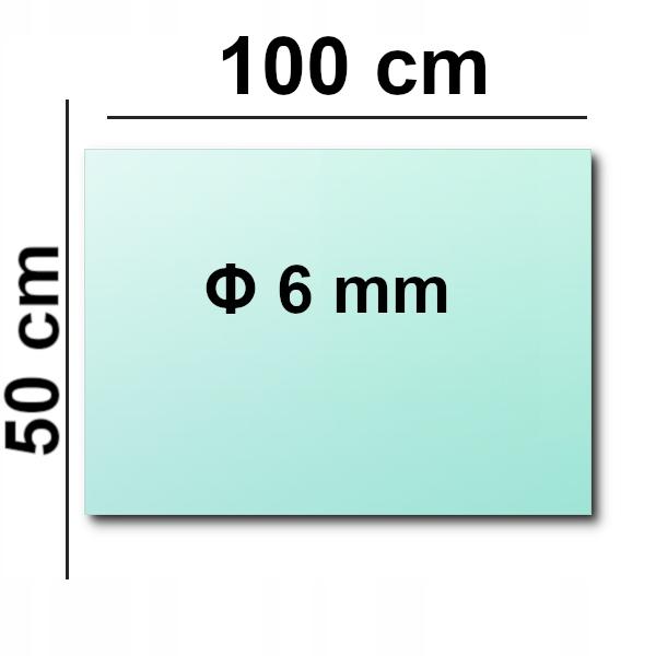 Szkło Hartowane Panel Szklany 100x50 Grube 6mm!