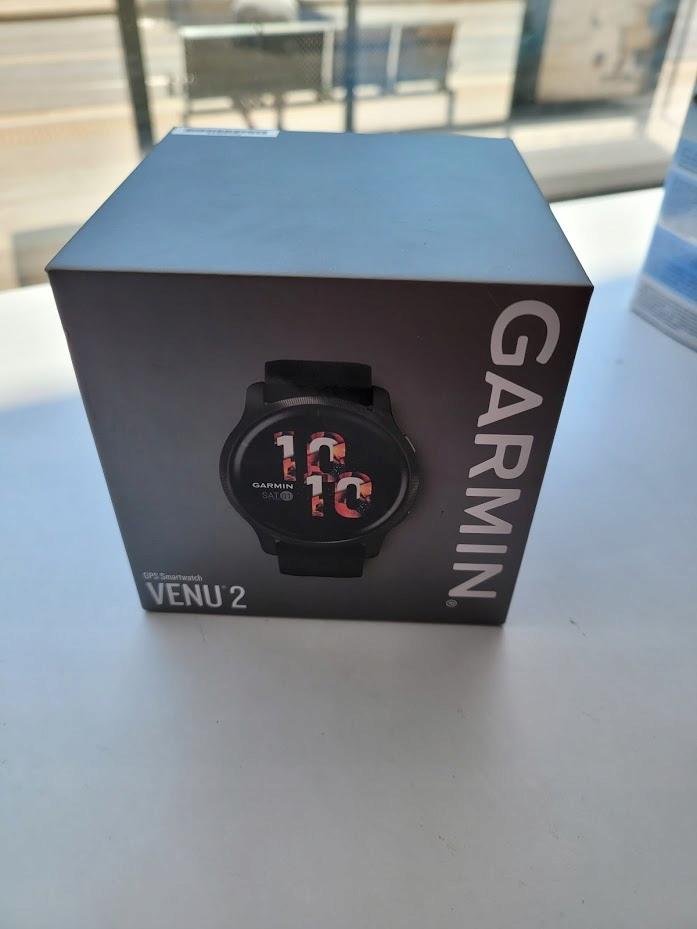 GARMIN Smartwatch Venu 2 Niebieskoszary czarny