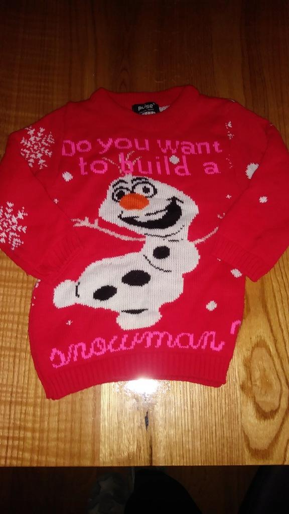 PULSE - sweter z bałwankiem 3-4 lata
